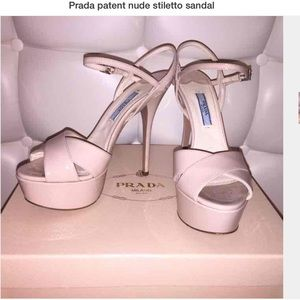 Prada blush pink stiletto